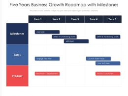 Five Years Business Growth Roadmap With Milestones