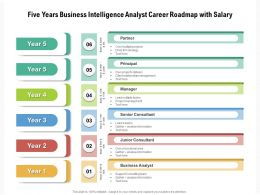 Five Years Business Intelligence Analyst Career Roadmap With Salary