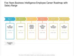 Five Years Business Intelligence Employee Career Roadmap With Salary Range
