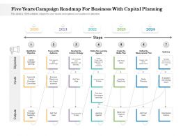 Five Years Campaign Roadmap For Business With Capital Planning