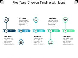 Five Years Chevron Timeline With Icons