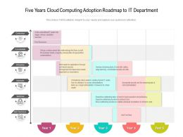 Five Years Cloud Computing Adoption Roadmap To IT Department