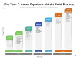 Five Years Customer Experience Maturity Model Roadmap