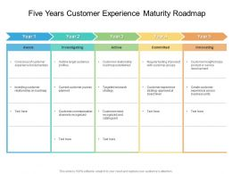Five Years Customer Experience Maturity Roadmap