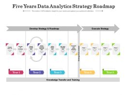 Five Years Data Analytics Strategy Roadmap