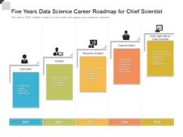 Five Years Data Science Career Roadmap For Chief Scientist