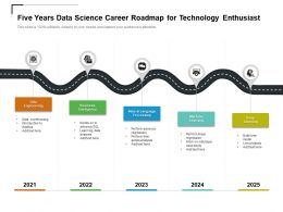 Five Years Data Science Career Roadmap For Technology Enthusiast