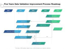 Five Years Data Validation Improvement Process Roadmap