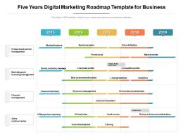 Five Years Digital Marketing Roadmap Template For Business
