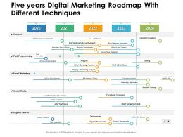 Five Years Digital Marketing Roadmap With Different Techniques