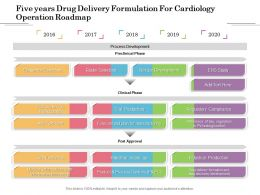 Five Years Drug Delivery Formulation For Cardiology Operation Roadmap