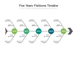 Five Years Fishbone Timeline