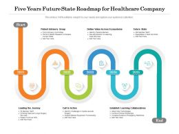 Five Years Future State Roadmap For Healthcare Company