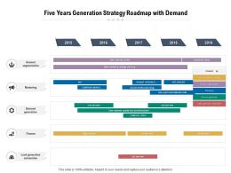 Five Years Generation Strategy Roadmap With Demand