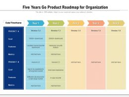 Five Years Go Product Roadmap For Organization