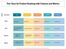 Five Years Go Product Roadmap With Features And Metrics