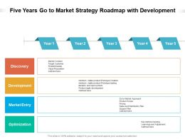 Five Years Go To Market Strategy Roadmap With Development
