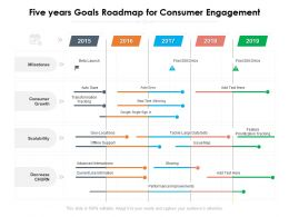 Five Years Goals Roadmap For Consumer Engagement