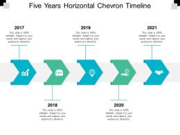 Five Years Horizontal Chevron Timeline