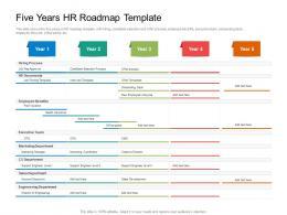 Five Years HR Roadmap Timeline Powerpoint Template