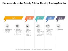 Five Years Information Security Solution Planning Roadmap Template