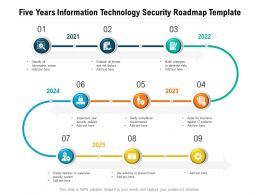 Five Years Information Technology Security Roadmap Template