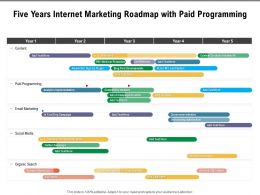 Five Years Internet Marketing Roadmap With Paid Programming