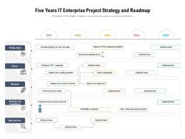Five Years IT Enterprise Project Strategy And Roadmap
