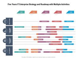 Five Years IT Enterprise Strategy And Roadmap With Multiple Activities