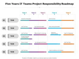 Five Years IT Teams Project Responsibility Roadmap
