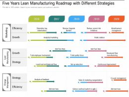 Five Years Lean Manufacturing Roadmap With Different Strategies