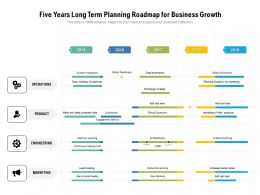 Five Years Long Term Planning Roadmap For Business Growth