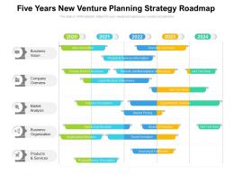 Five Years New Venture Planning Strategy Roadmap