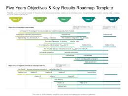 Five Years Objectives And Key Results Roadmap Timeline Powerpoint Template