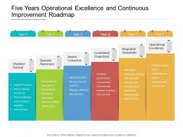 Five Years Operational Excellence And Continuous Improvement Roadmap