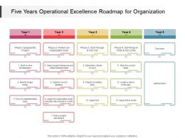 Five Years Operational Excellence Roadmap For Organization