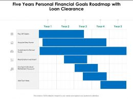 Five Years Personal Financial Goals Roadmap With Loan Clearance