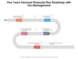 Five Years Personal Financial Plan Roadmap With Tax Management