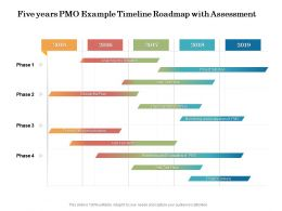 Five Years PMO Example Timeline Roadmap With Assessment