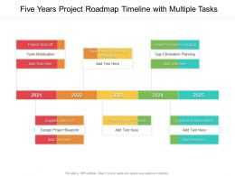 Five Years Project Roadmap Timeline With Multiple Tasks