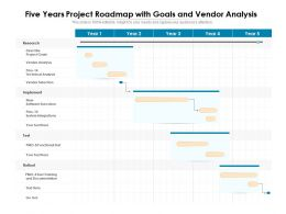 Five Years Project Roadmap With Goals And Vendor Analysis