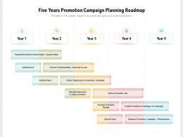 Five Years Promotion Campaign Planning Roadmap