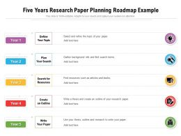 Five Years Research Paper Planning Roadmap Example