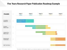 Five Years Research Paper Publication Roadmap Example