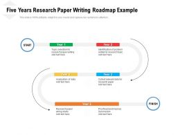 Five Years Research Paper Writing Roadmap Example