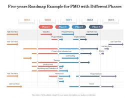 Five Years Roadmap Example For PMO With Different Phases