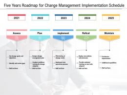Five Years Roadmap For Change Management Implementation Schedule
