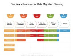 Five Years Roadmap For Data Migration Planning