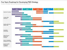 Five Years Roadmap For Developing PMO Strategy