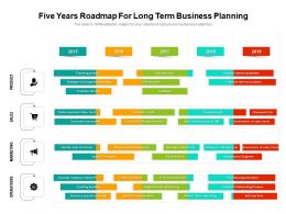 Five Years Roadmap For Long Term Business Planning